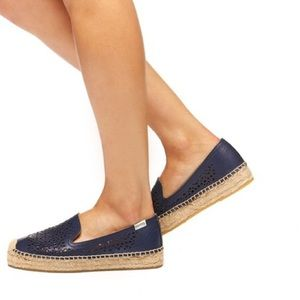 Soludos | Laser Cut Espadrille Smoking Slippers 7